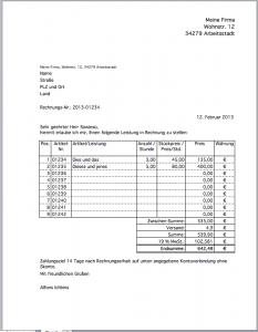 Excel-Rechnungs-Vorlage NEU!