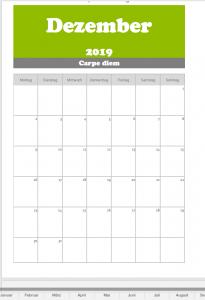 Monatsplan 2019
