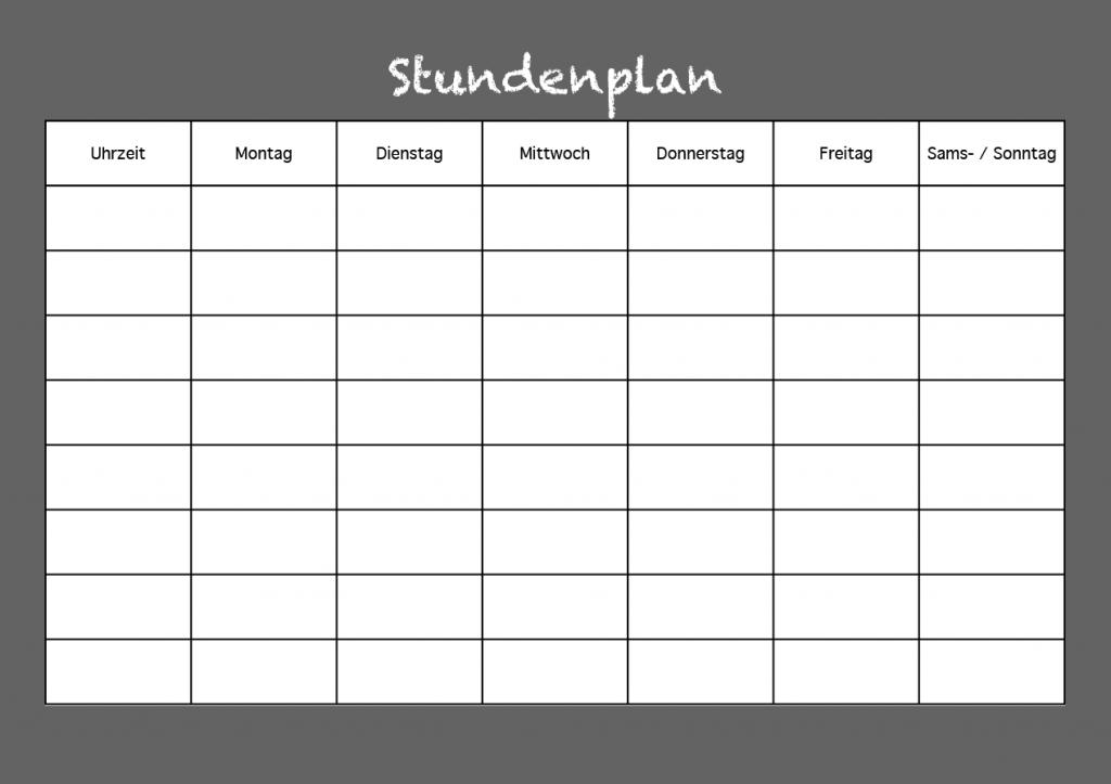 Stundenplan als PDF