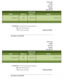 Excel-Vorlage-Quittung