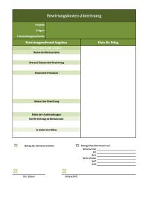 Excel-Vorlage für Bewirtungs-Abrechnung