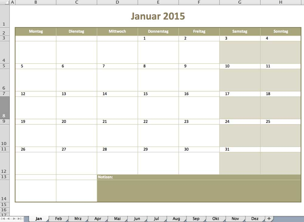 Zeitpläne | Excel Vorlagen für jeden Zweck