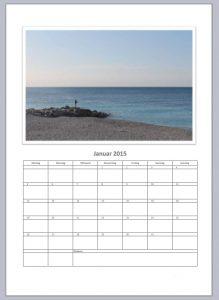 Fotokalender 2015 als Excel Vorlage
