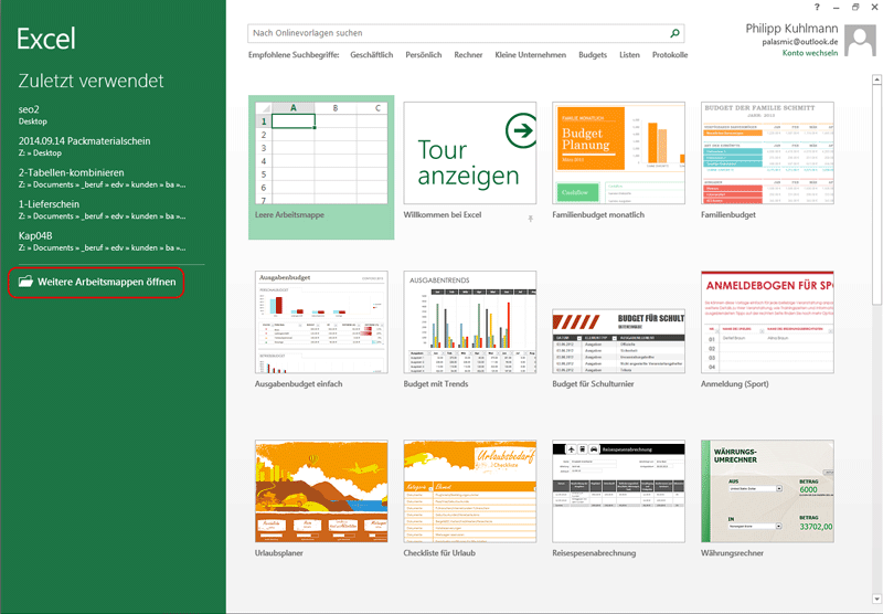 Excelvorlage erstellen   Excel Vorlagen für jeden Zweck
