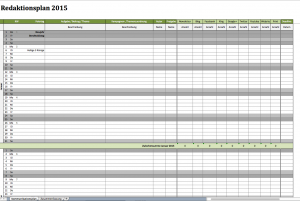 Redaktionsplan 2015