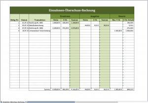 Einnahmen-Überschuss-Rechnung mit einer Excel-Vorlage