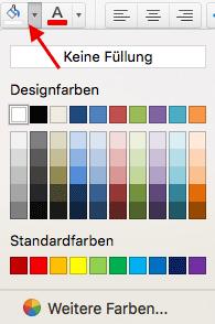 Hintergrundfarbe der Zelle ändern in Excel