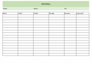 Einfache Protokoll-Liste