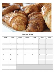 Fotokalender mit Excel für 2017 (Februar)