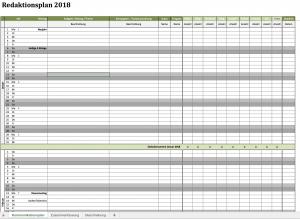 redaktionsplan für 2018