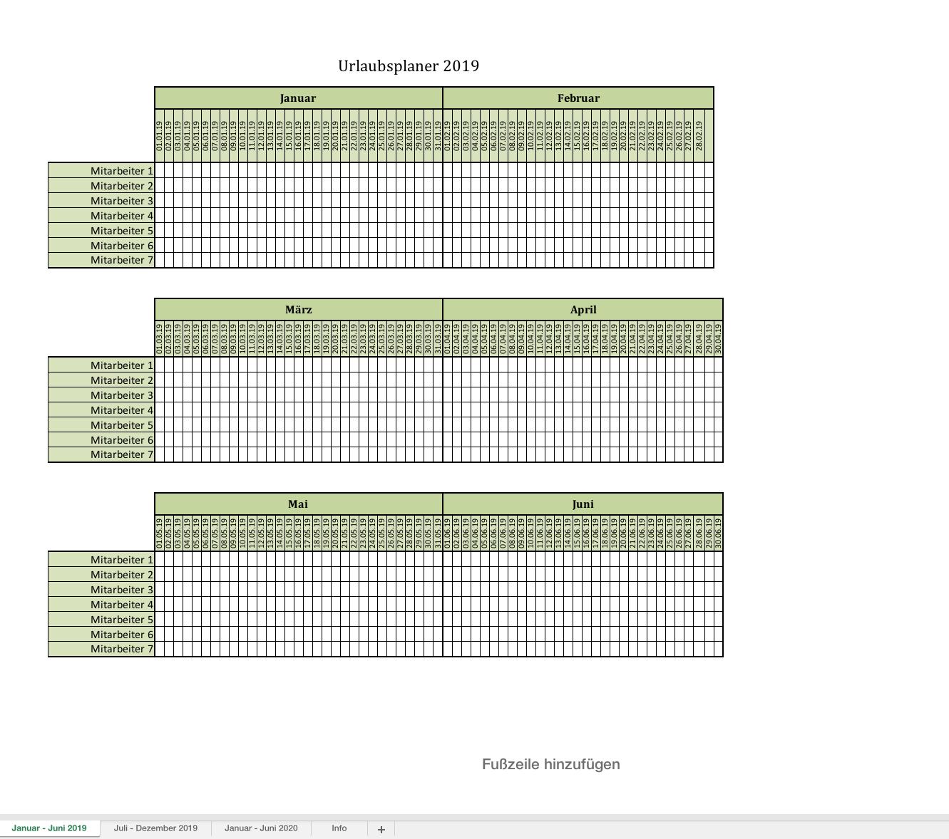 urlaubsplaner-2019 | Excel Vorlagen für jeden Zweck