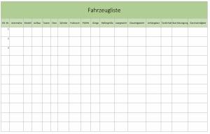Fahrzeugverwaltung mit Excel