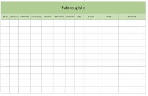 Fahrzeugverwaltung mit Excel Teil 2