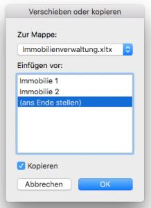 Excel Arbeitsblatt kopieren bzw. duplizieren