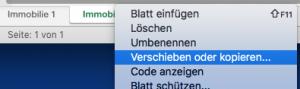 Excel Arbeitsblatt kopieren