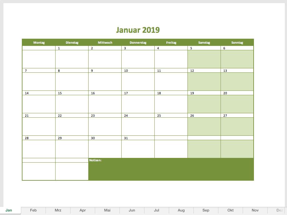 Kalender 2020 Zum Ausdrucken Alle Monate
