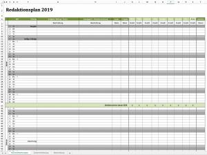redaktionsplan für 2019