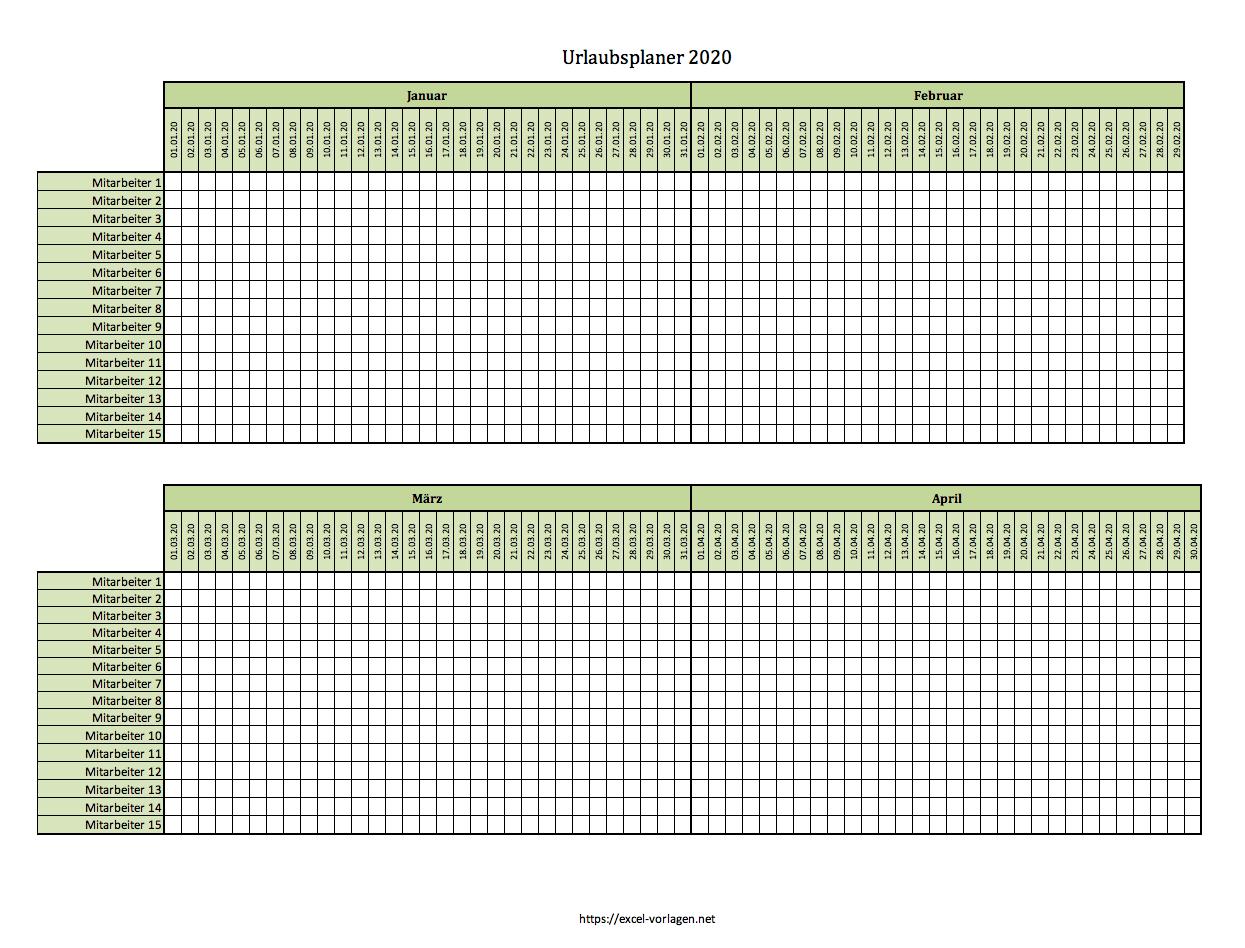 Urlaubsplaner Excel 2021 Vorlage Kostenlos 9