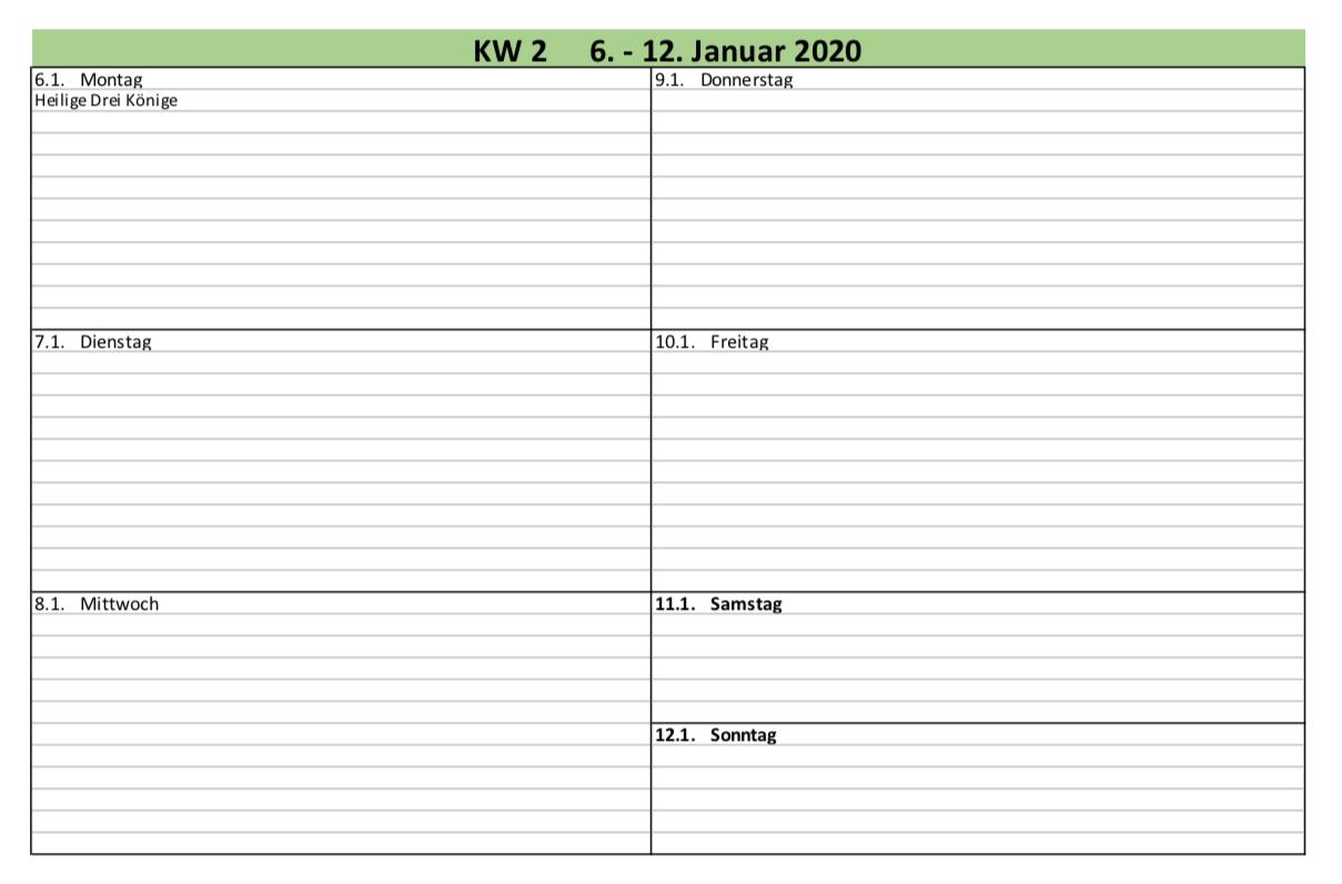 Excel Kalender Excel Ticker