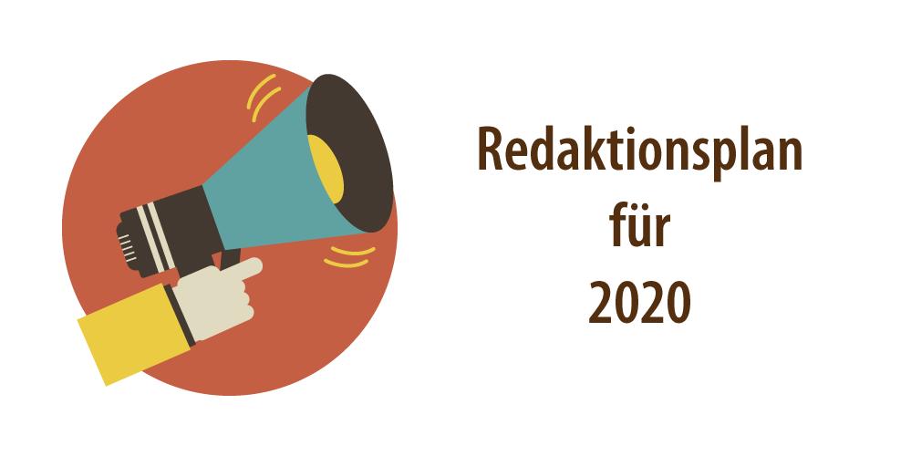 Header für den Redaktionsplan 2020