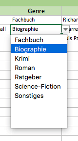 Dropdown in der Excel-Zelle