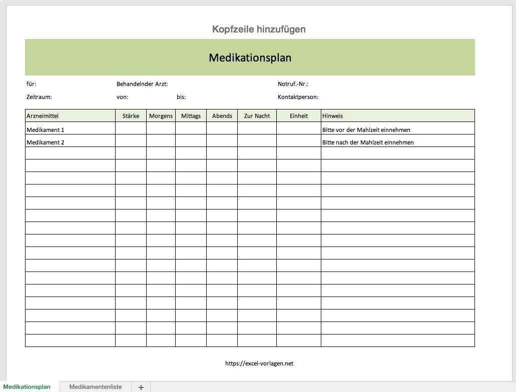 Medikamentenplan 11