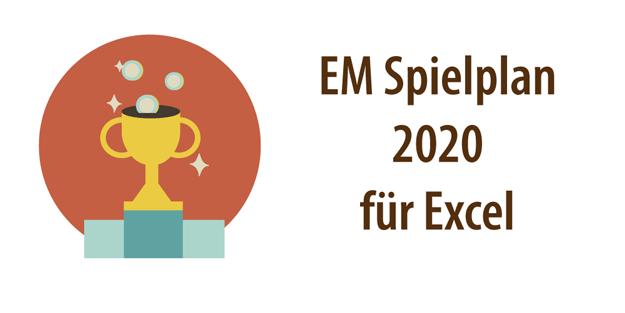 """Headerbild für Artikel: """"EM Spielplan 2020"""""""