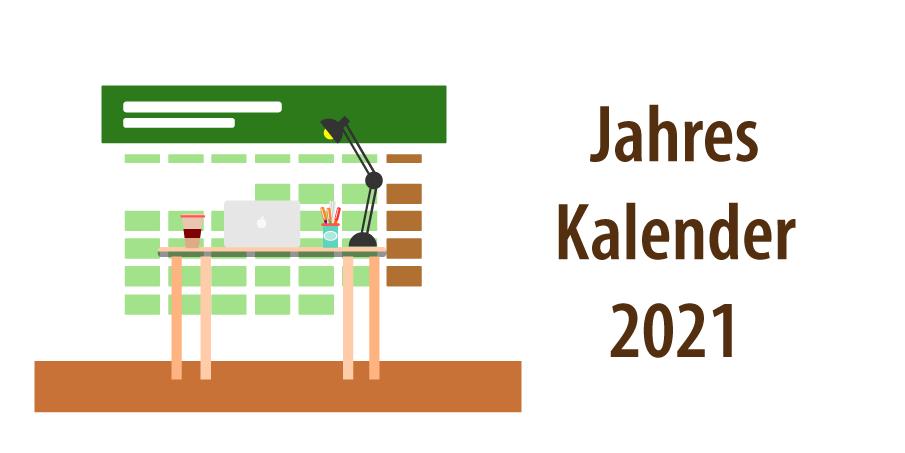 """Header zum Artikel """"Jahreskalender 2021"""""""