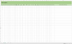 Vorschau Fahrzeugliste mit Excel