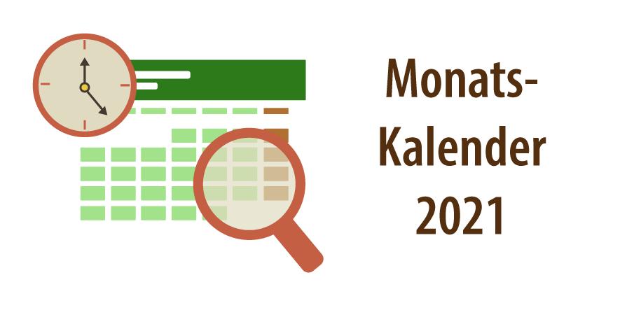 """Banner zu Artikel """"Monatskalender 2021"""""""