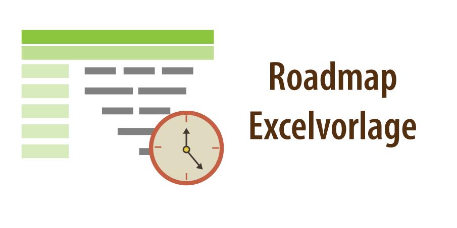 """Banner zum Artikel """"Roadmap Vorlage Excel"""""""
