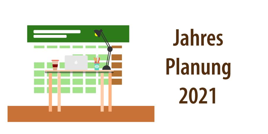 """Header für Artikel """"Jahresplanung 2021"""""""