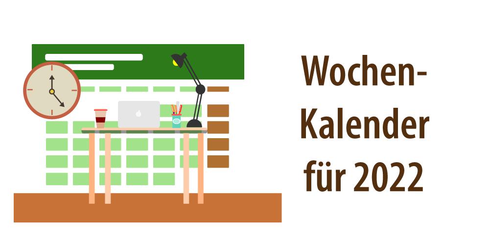 """Header für Artikel """"Wochenkalender 2022 mit Excel"""""""