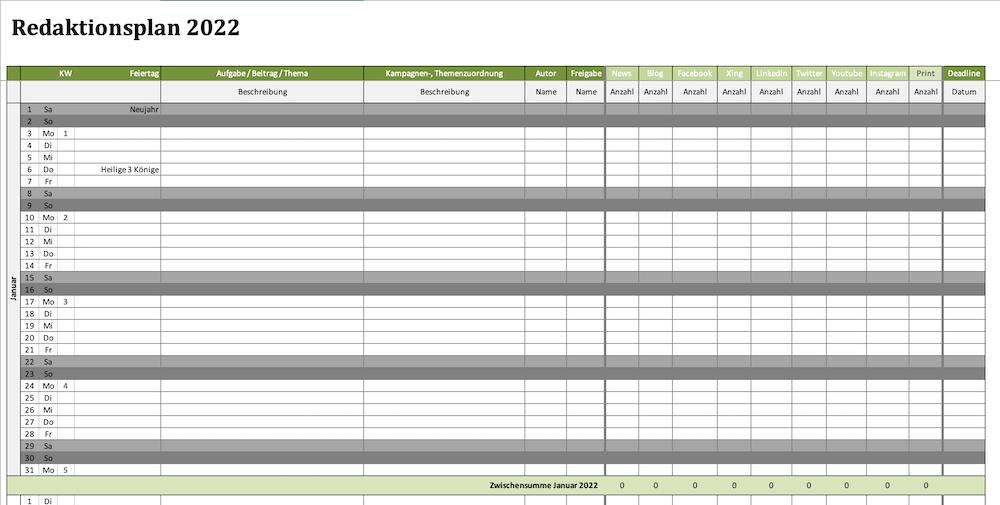 Redaktionsplaner 2022